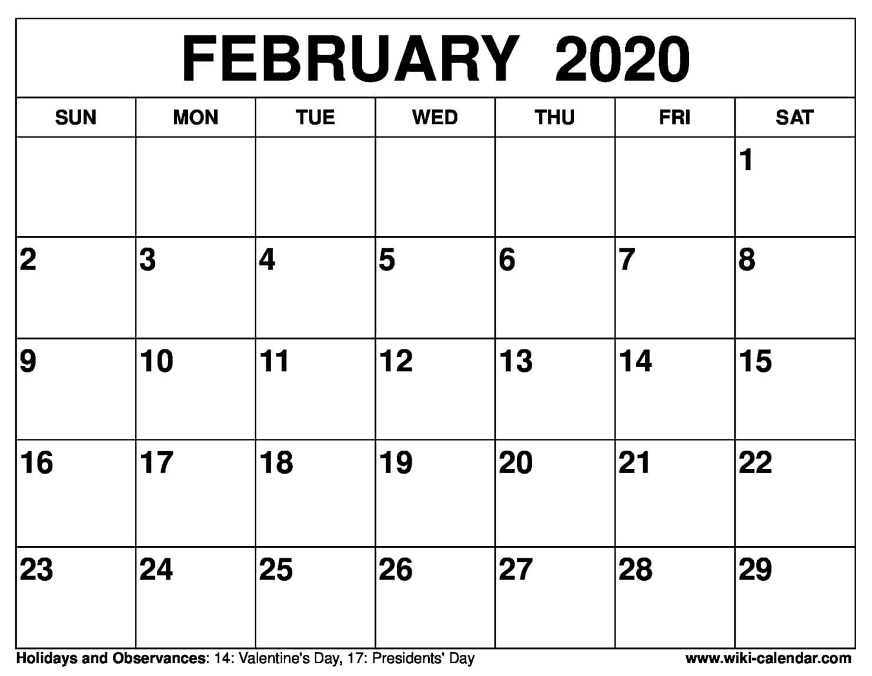 February 2020 Calendar Word - Togo.wpart.co