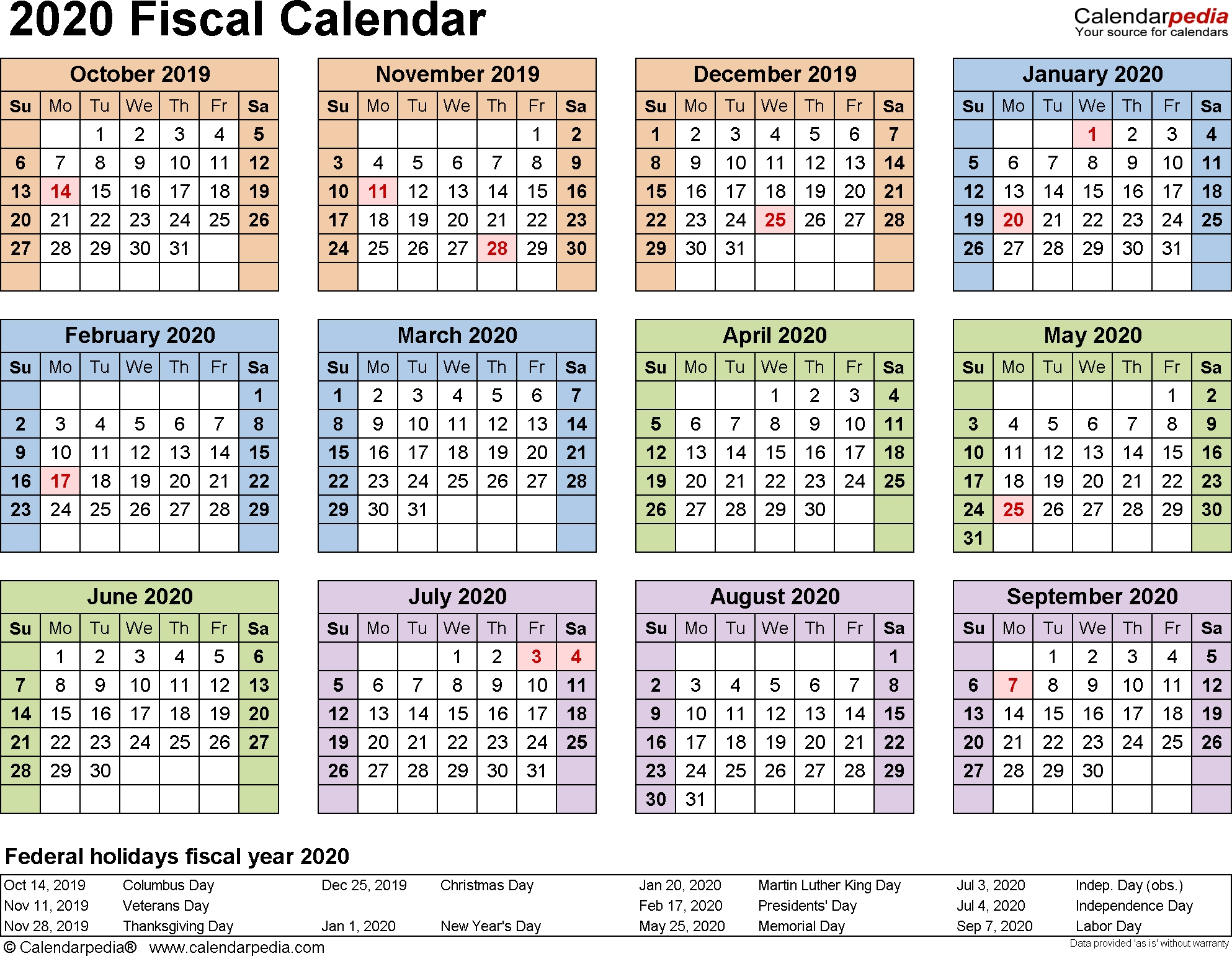 Collect Federal Pay Period Calendar 2020 Printable