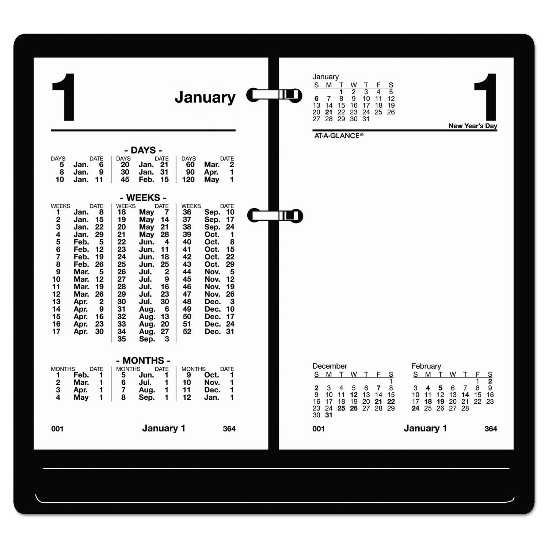 Financial Desk Calendar Refill, 3 1/2 X 6, White, 2020