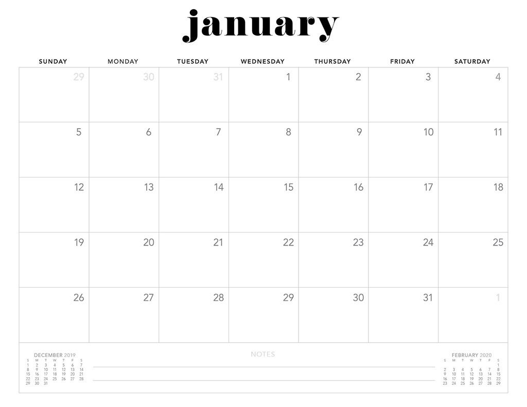 Free 2020 Printable Calendars - 51 Designs To Choose From