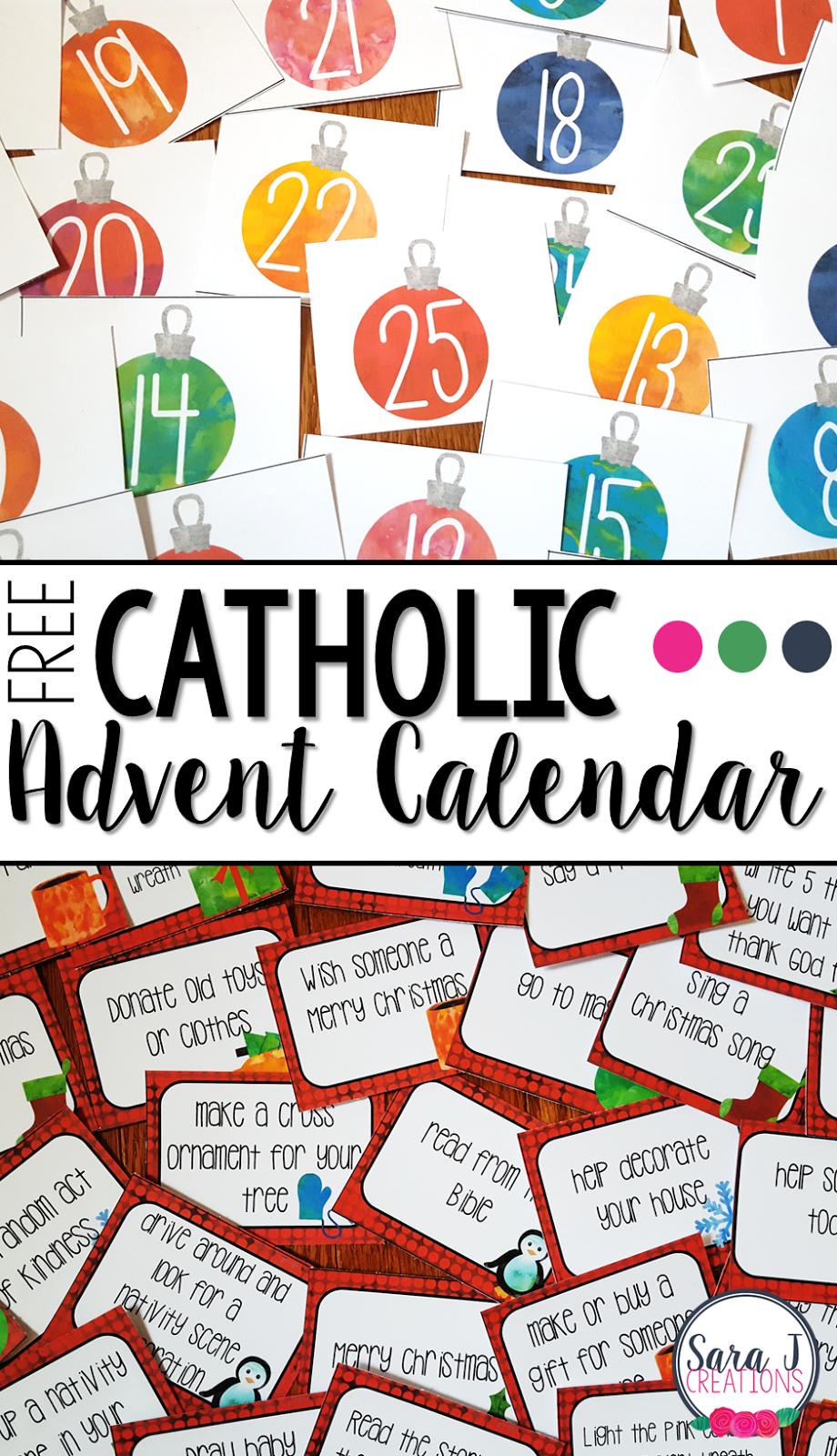 Free Catholic Advent Calendar | Advent Calendars For Kids
