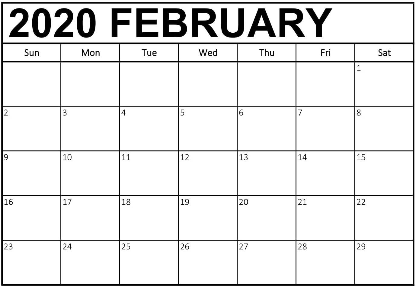 Free February 2020 Calendar Australia Holidays Printable