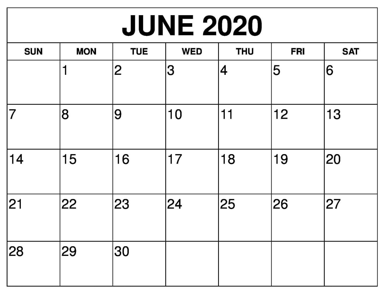 Free June 2020 Calendar Printable | 12 Month Printable Calendar