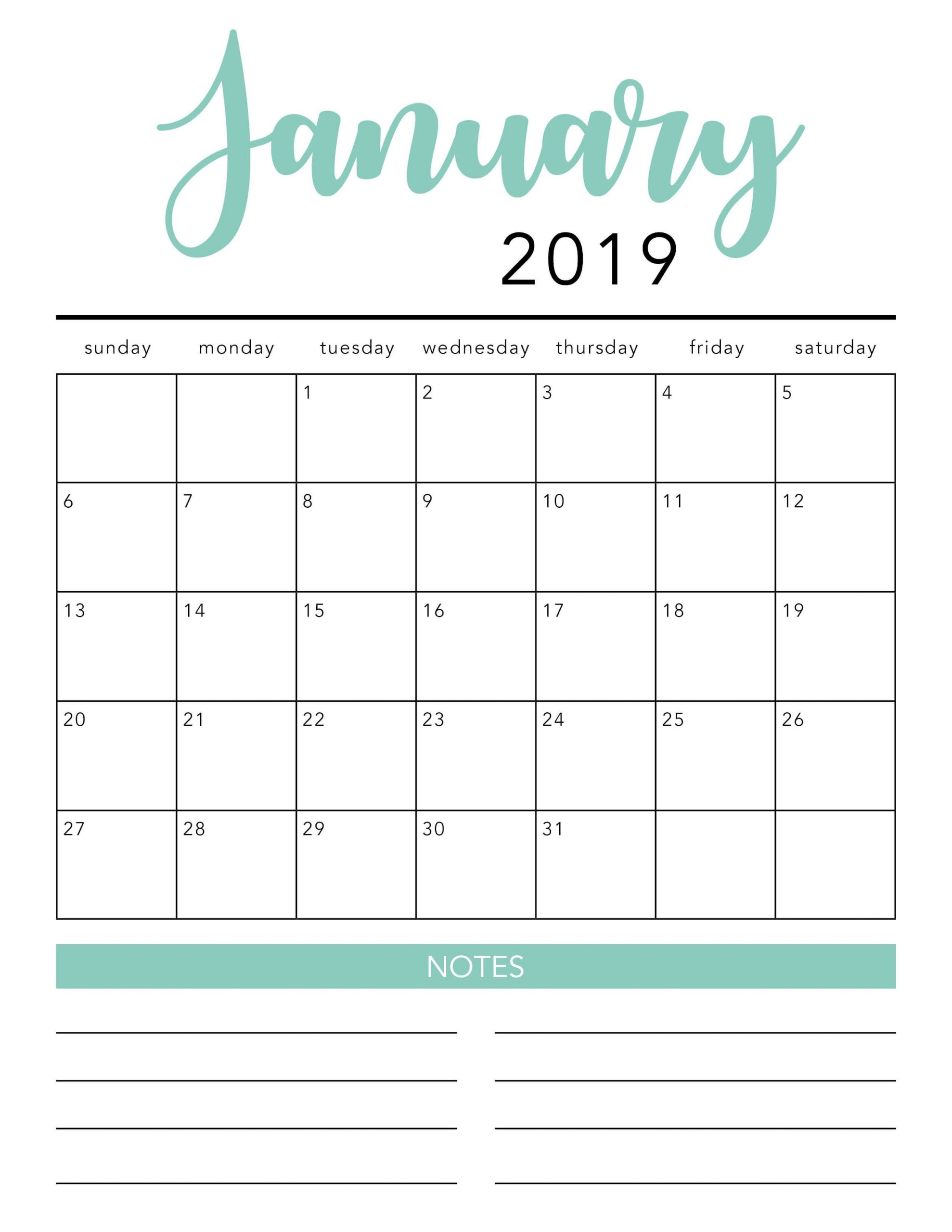 Free Printable 2020 Monthly Calendar - Togo.wpart.co