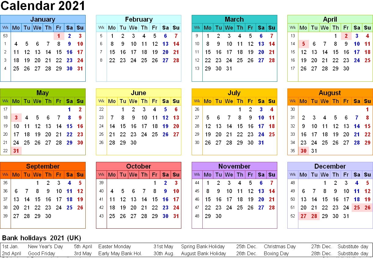 Take 2021 Printable Calendar Free | Calendar Printables ...
