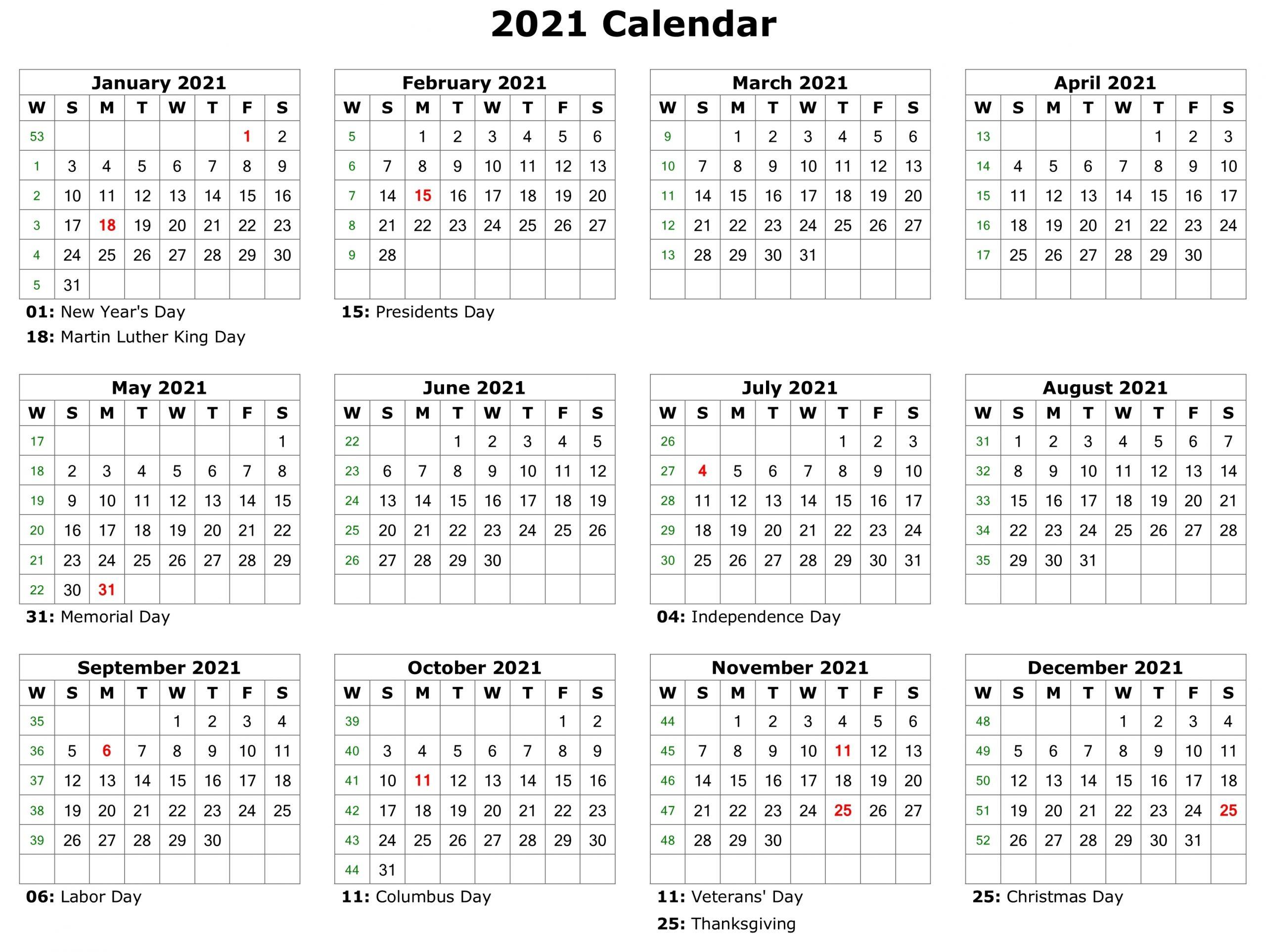 Take 2021 Printable Calendar Free | Calendar Printables ...