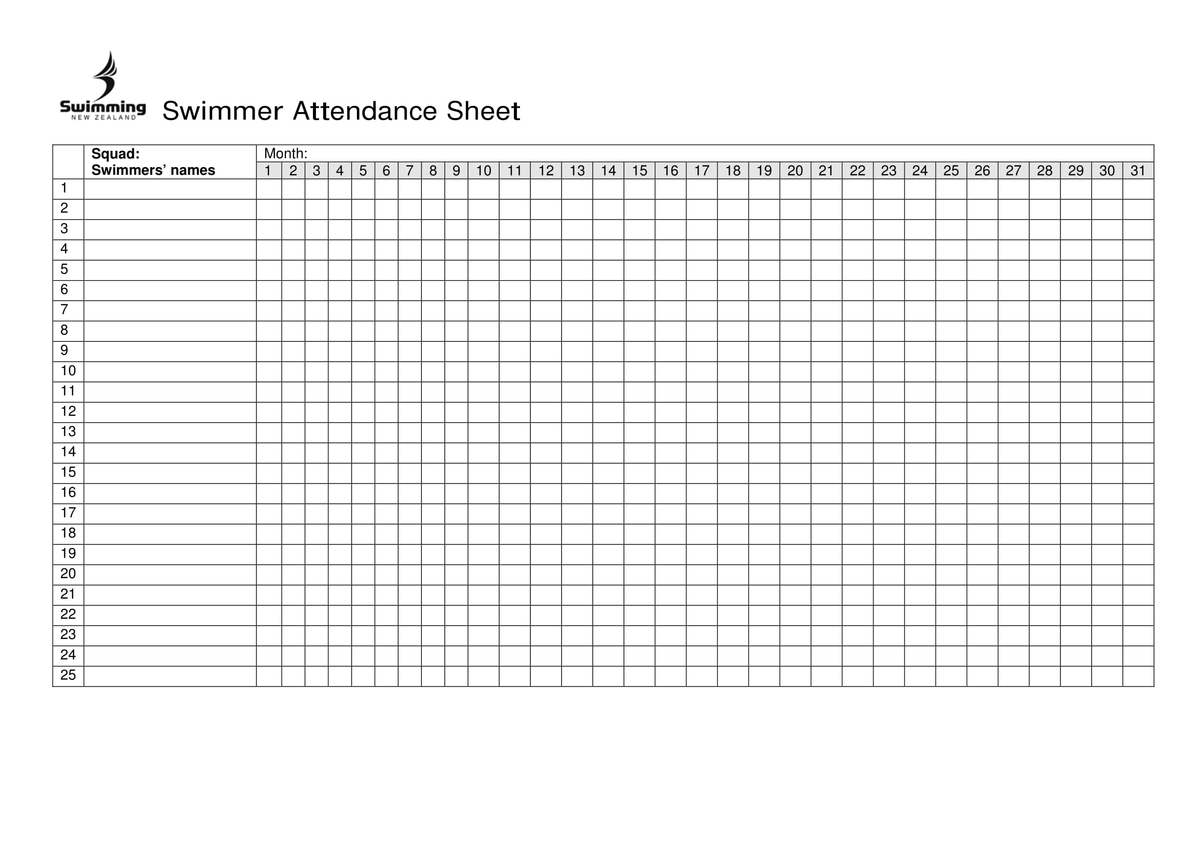 Free Printable Attendance Sheet Excel Pdf, Word, Template