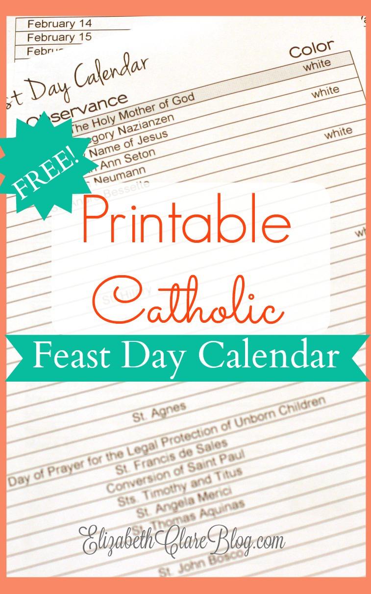 Free-Printable-Feast-Day-Calendar - Elizabeth Clare