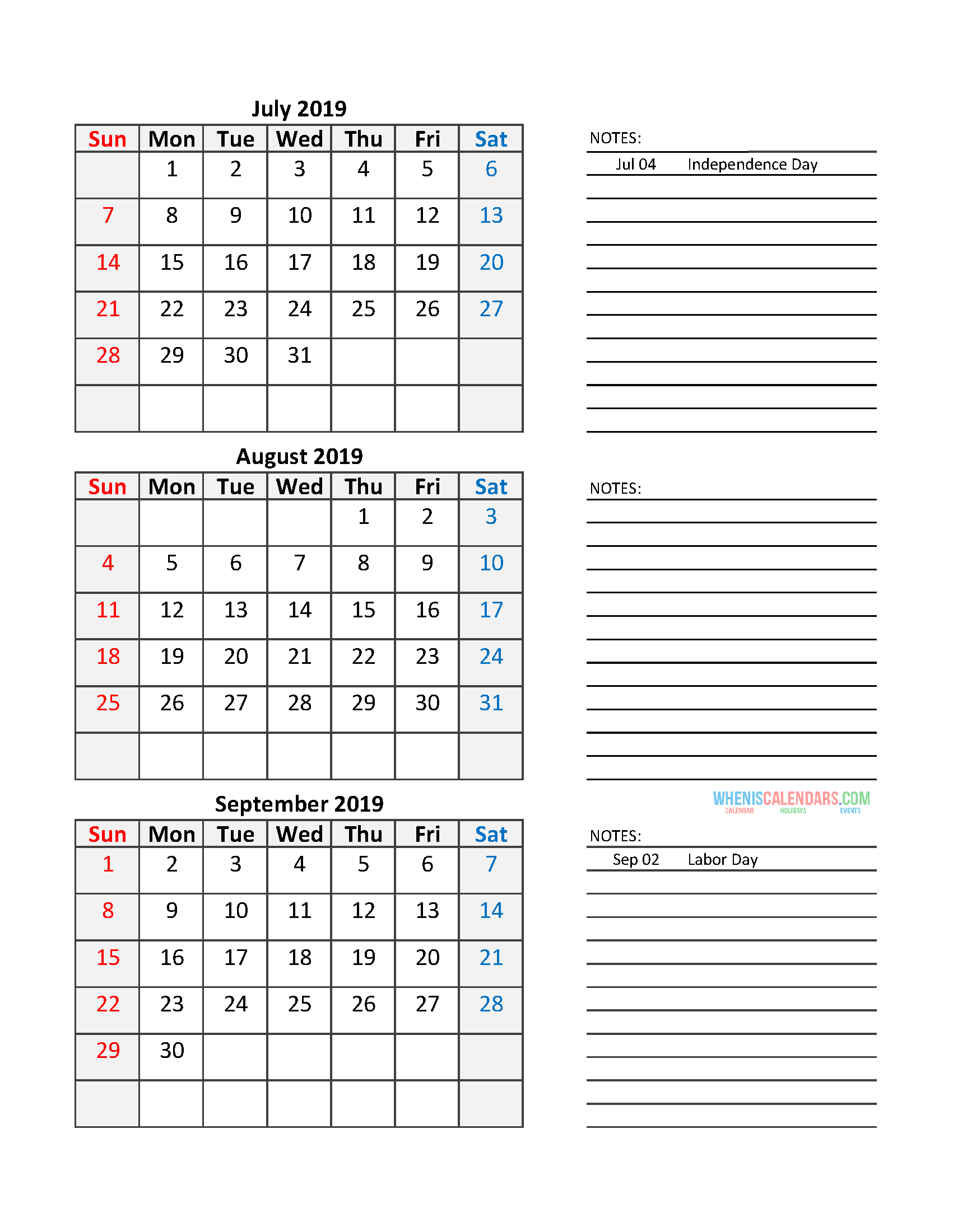 Free Printable Quarterly Calendar 2020 - Togo.wpart.co