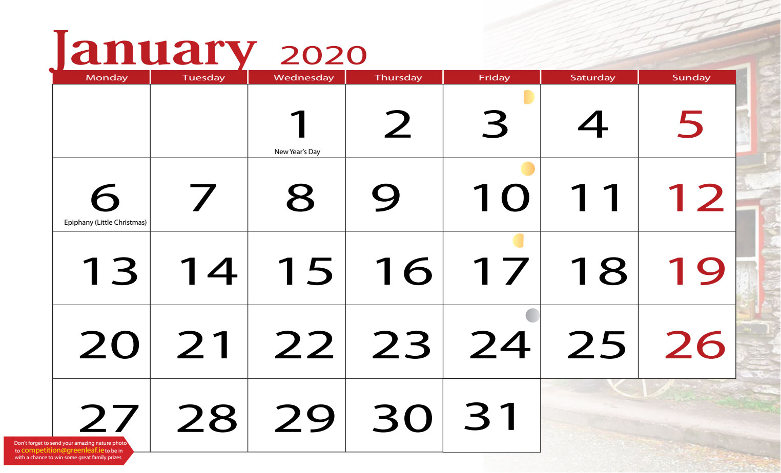 Greenleaf Publications Predesign Calendar