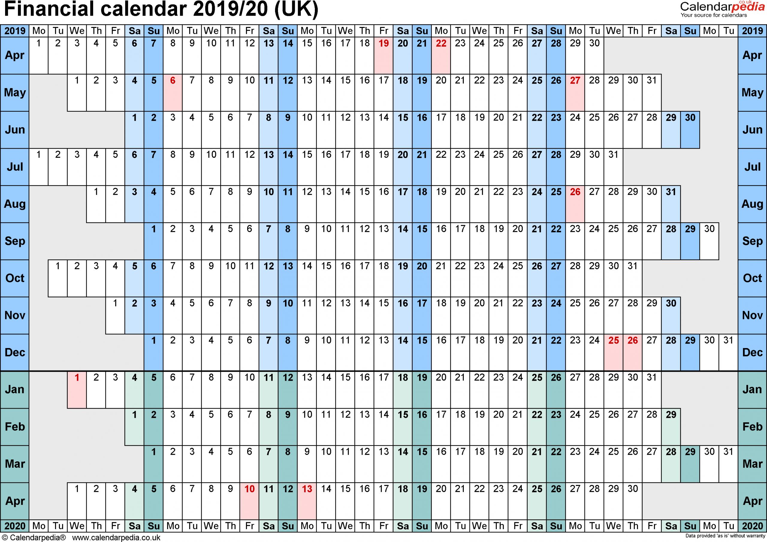 Hmrc Tax 2019 – 2020 Calendars | Calendar Template Printable