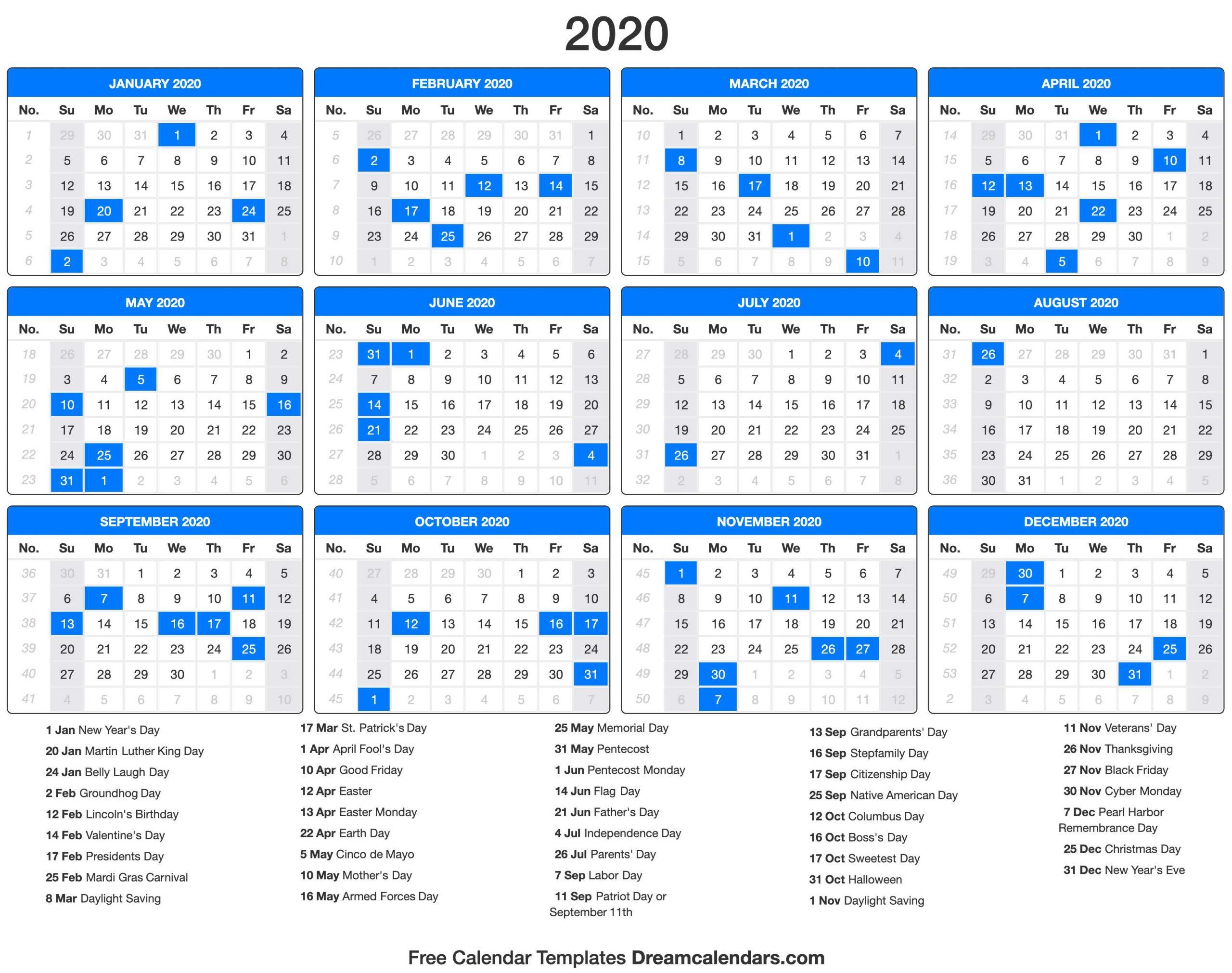 Holidays Calendar 2020 - Togo.wpart.co