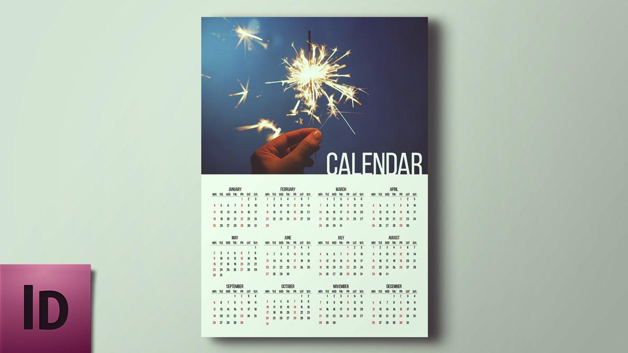 How To Create A Calendar - Indesign Tutorial