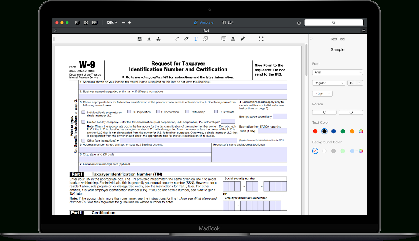 How To Fill Out Irs Form W-9 2018-2019 | Pdf Expert