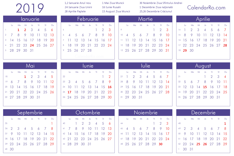 Imagini Pentru Calendar 2019 Romanesc | Calendar 2018