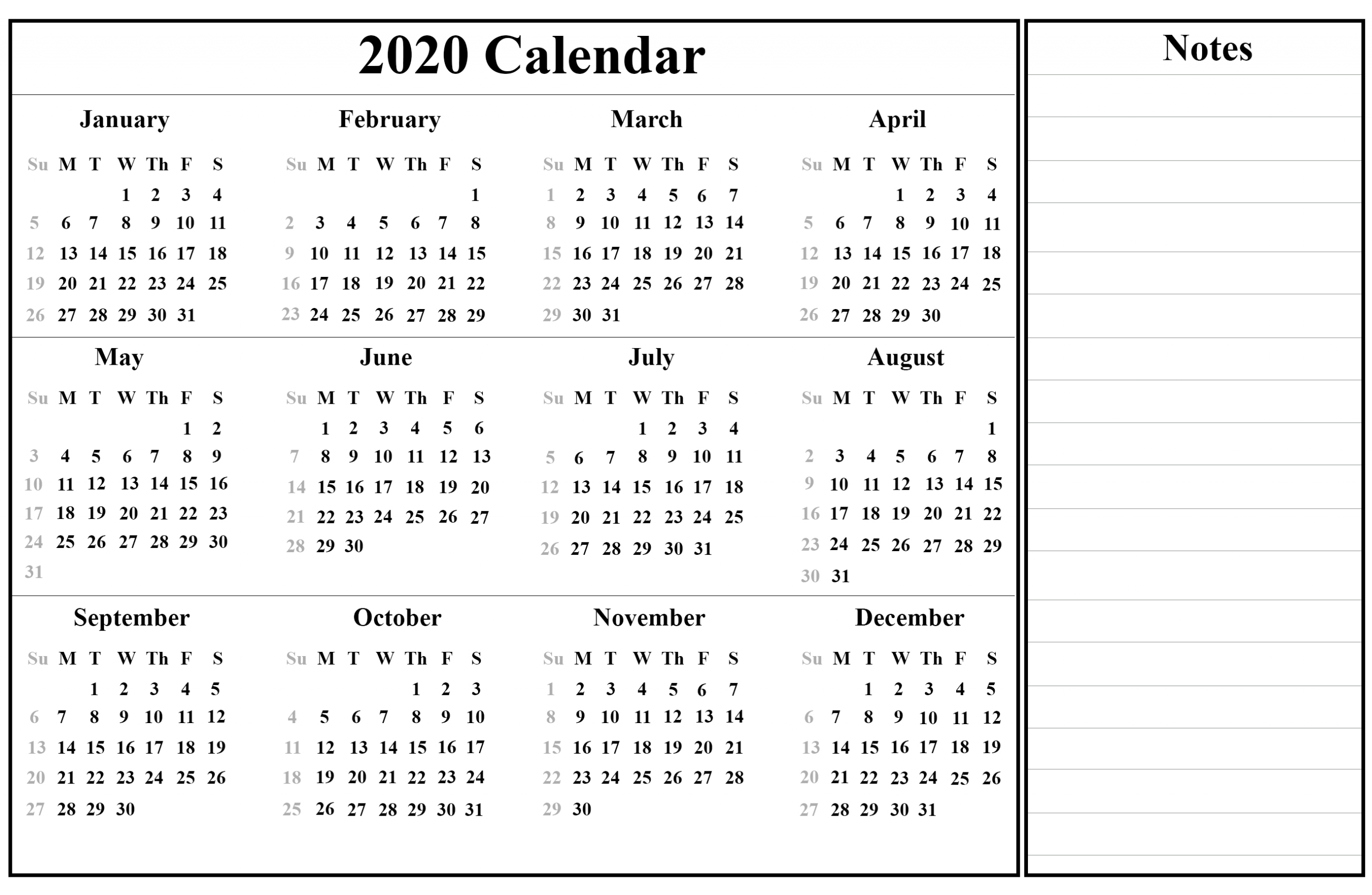 Indonesia 2020 Printable Calendar | Printable July Calendar