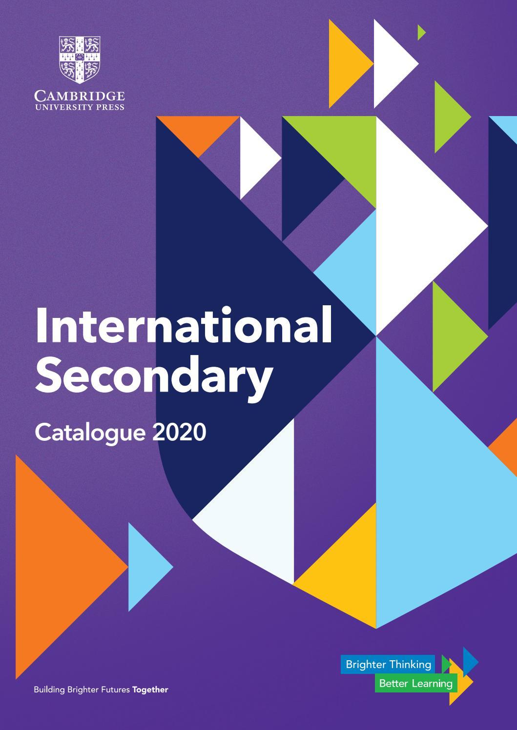 International Secondary 2020 Catalogue By Cambridge