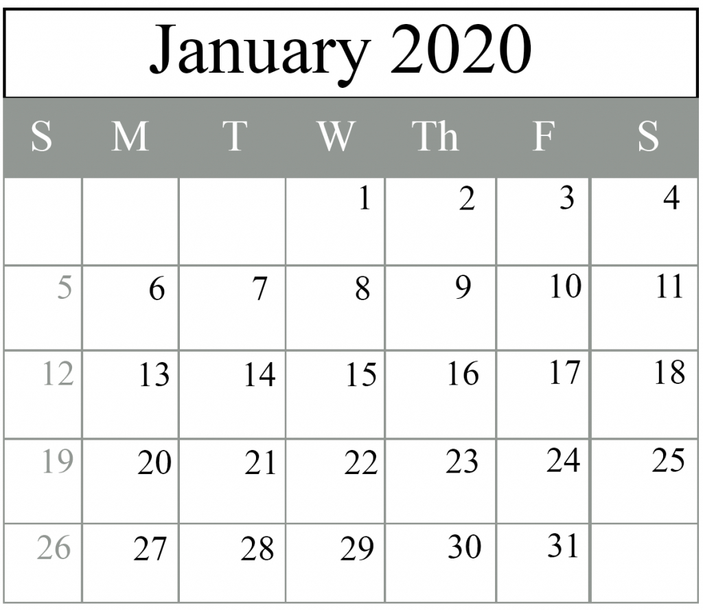 January 2020 Calendar | Best Printable Calendar