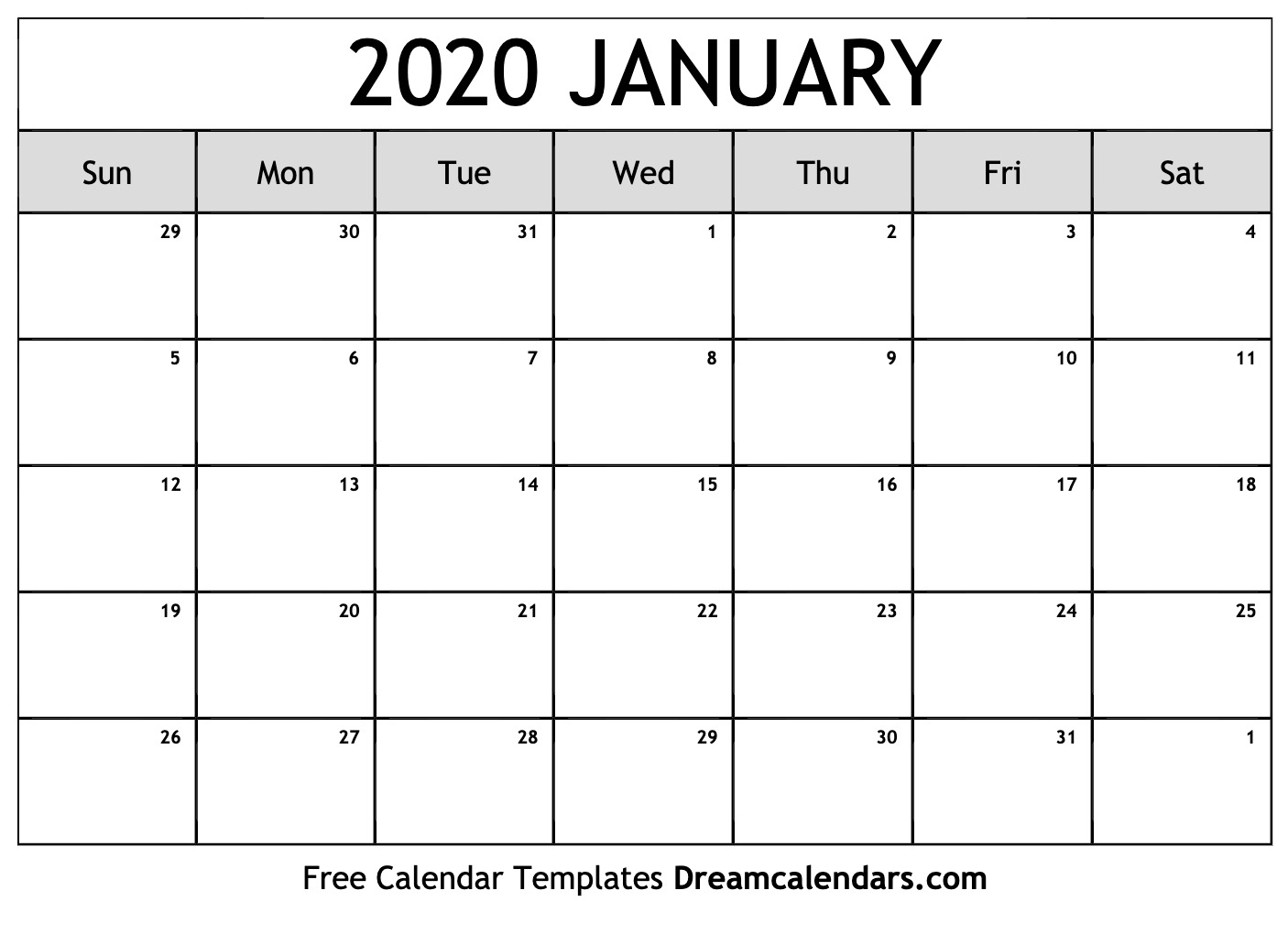 January 2020 Calendar Pdf Vertex - Togo.wpart.co