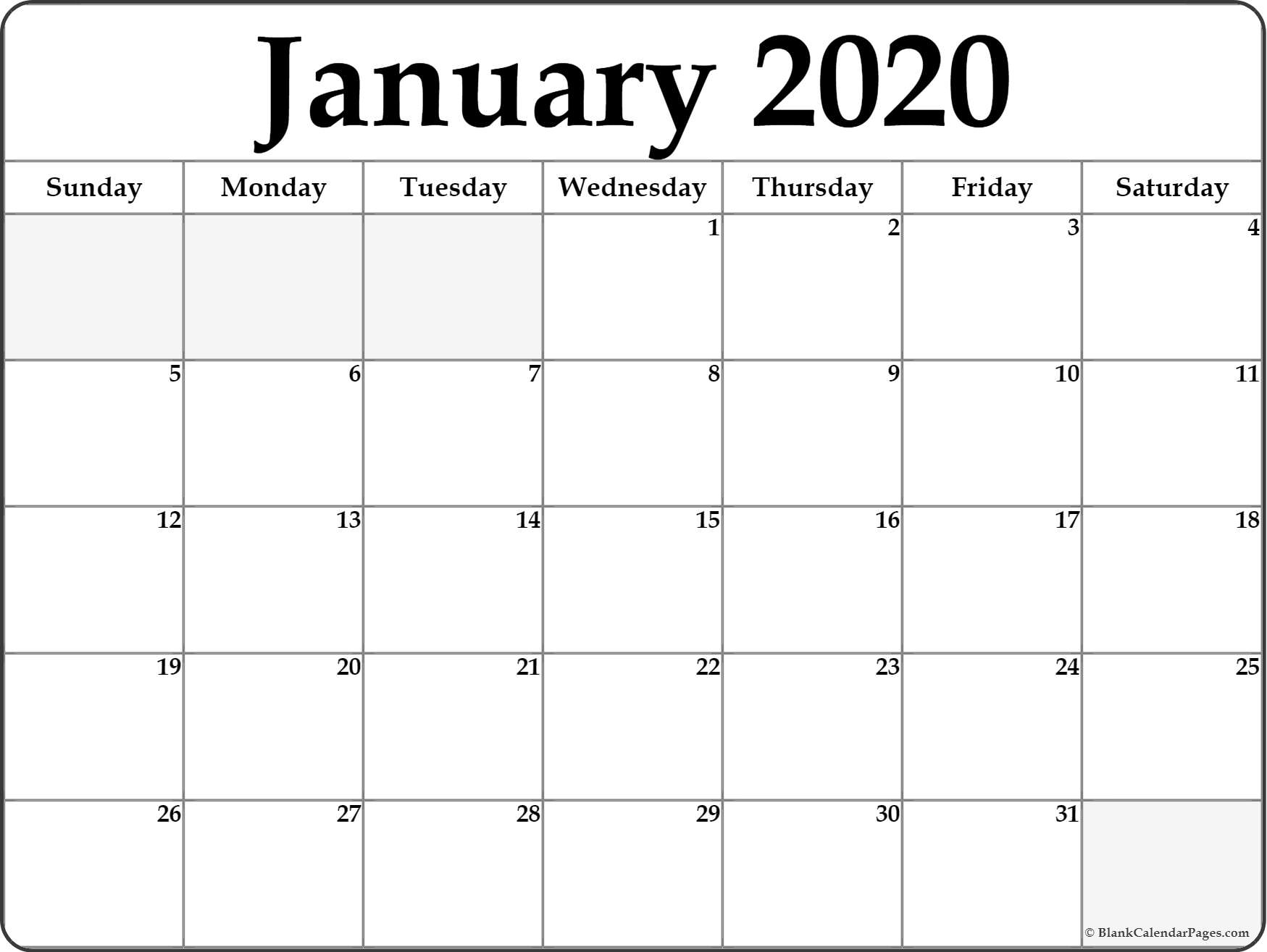 January 2020 Calendar Spot - Togo.wpart.co