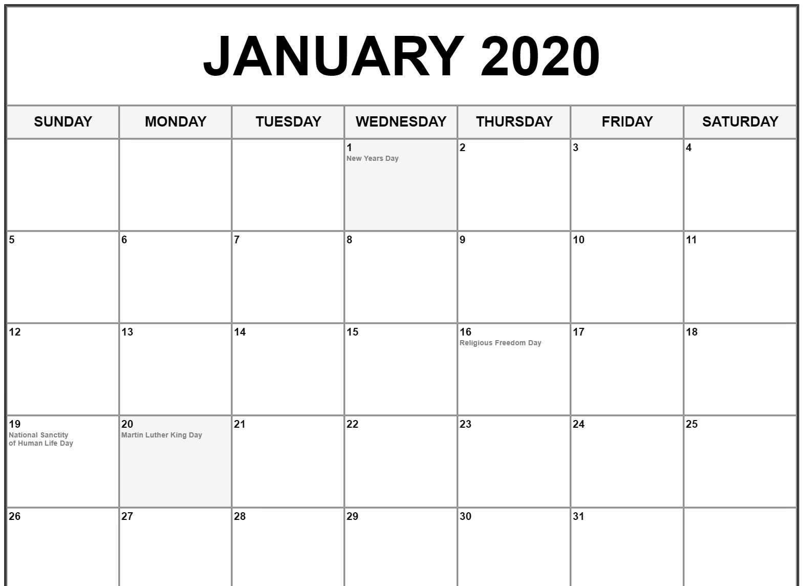 January 2020 Calendar Us Holidays | February Calendar