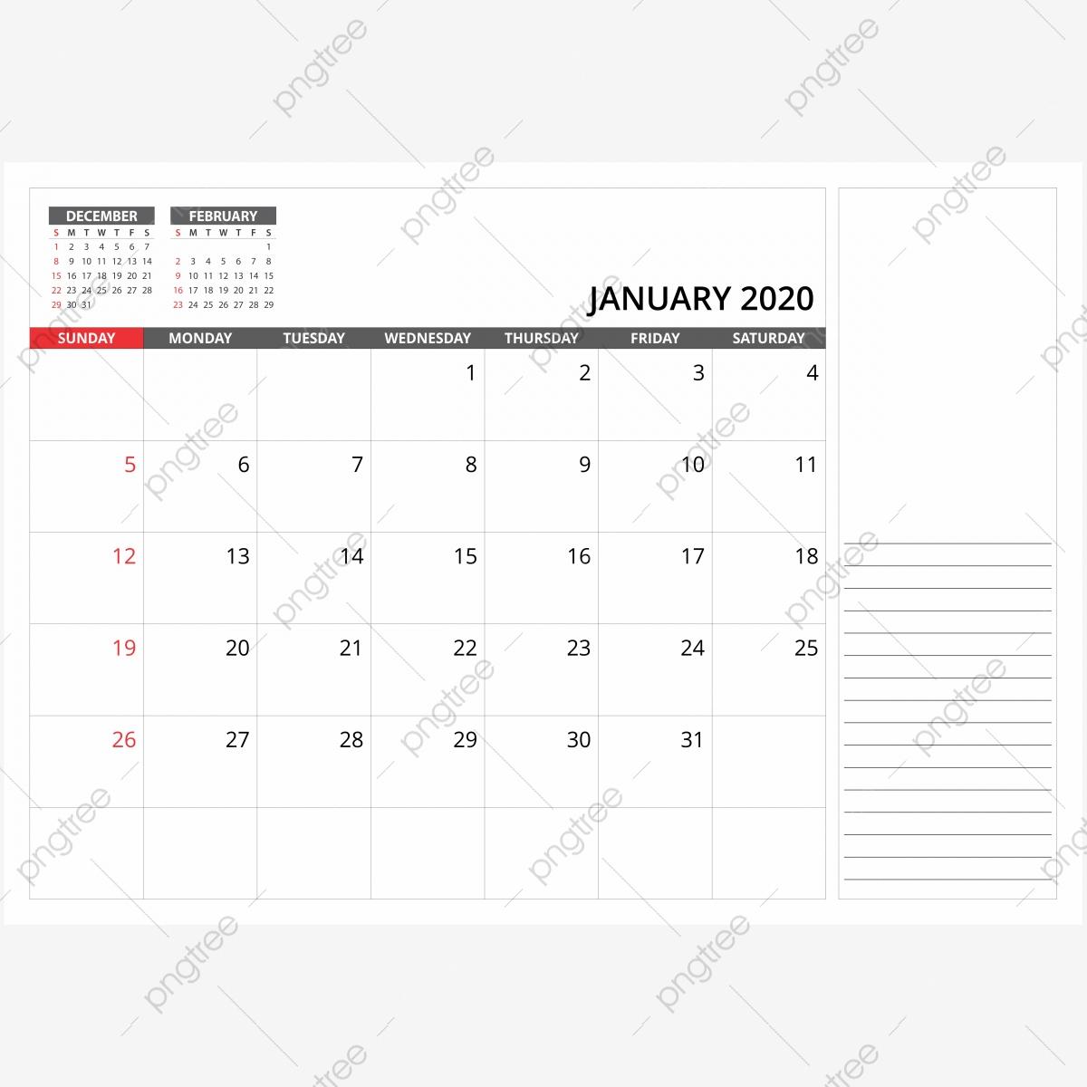 January 2020 Monthly Desk Calendar, 2020, Calendar, Png Png