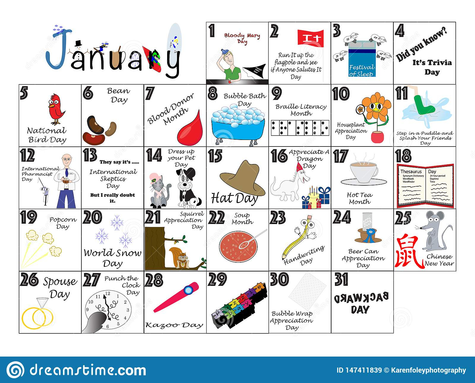 January 2020 Quirky Holidays And Unusual Celebrations