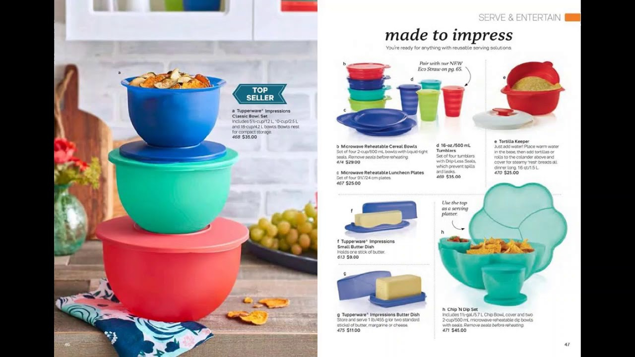 January 2020 Tupperware Catalog