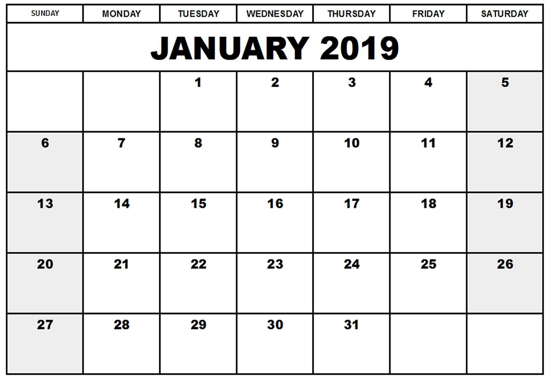 January Calendar 2019 Malayalam - Free Printable Calendar