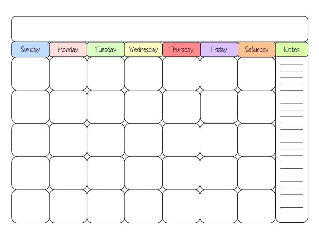 Kids Calendar Template - Togo.wpart.co