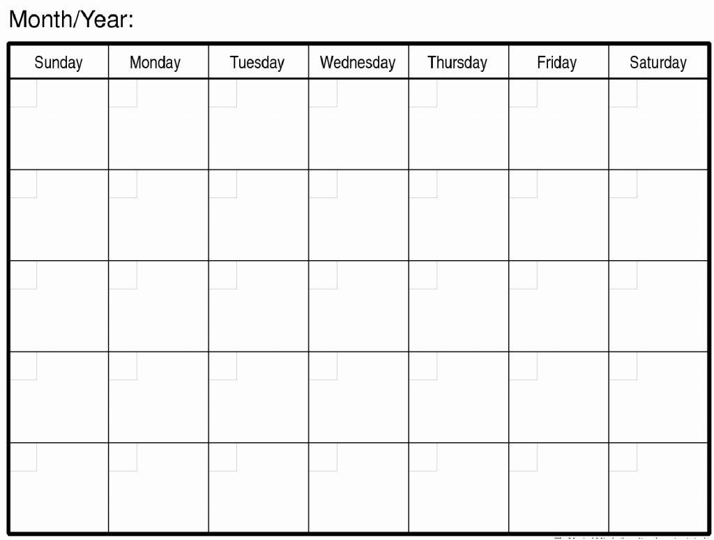 Large Blank Calendar - Togo.wpart.co