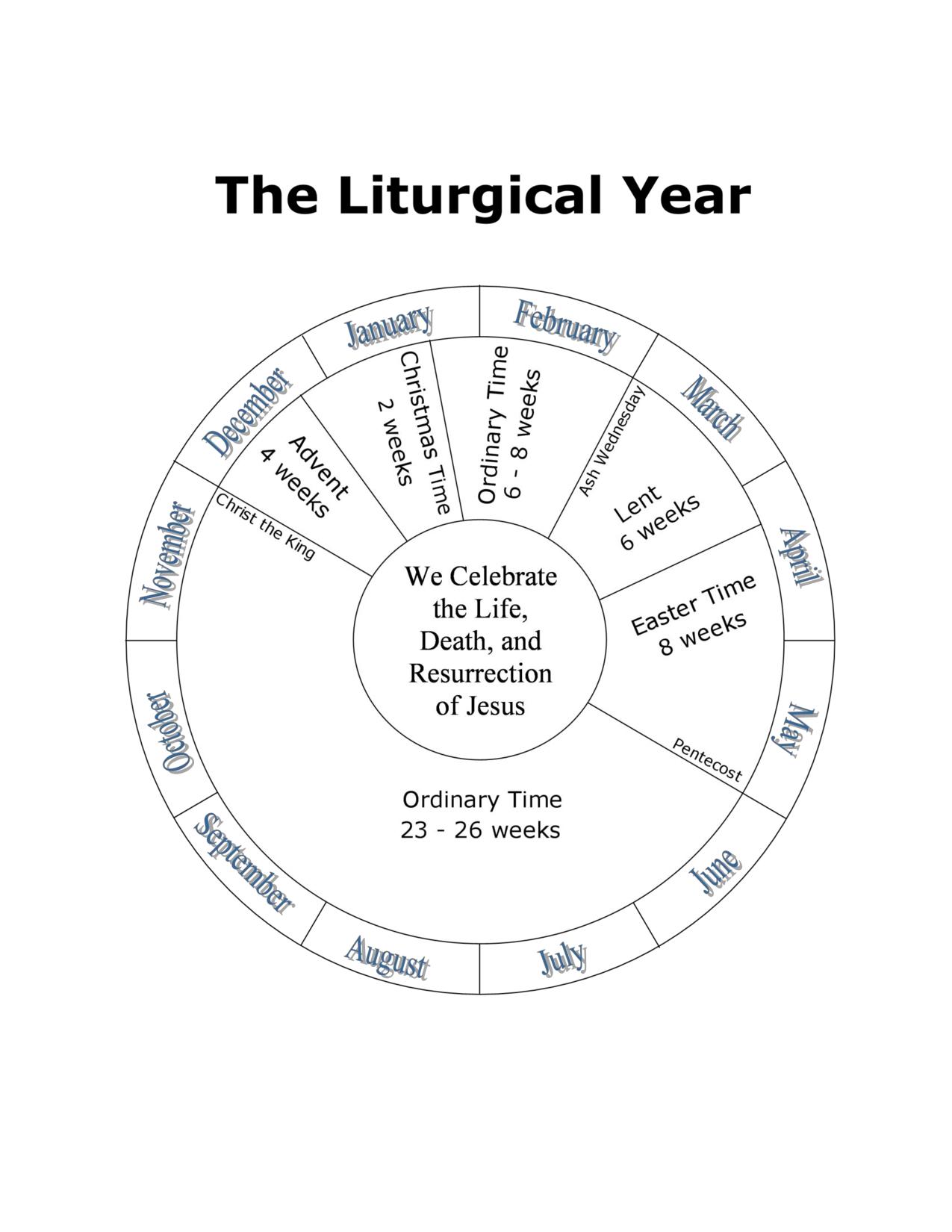 Liturgical Calendar Clipart