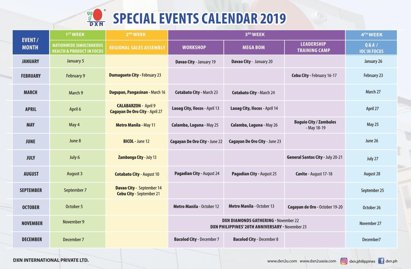 Lovely P K Krishnan Calendar 2019 : Mini Calendar Template