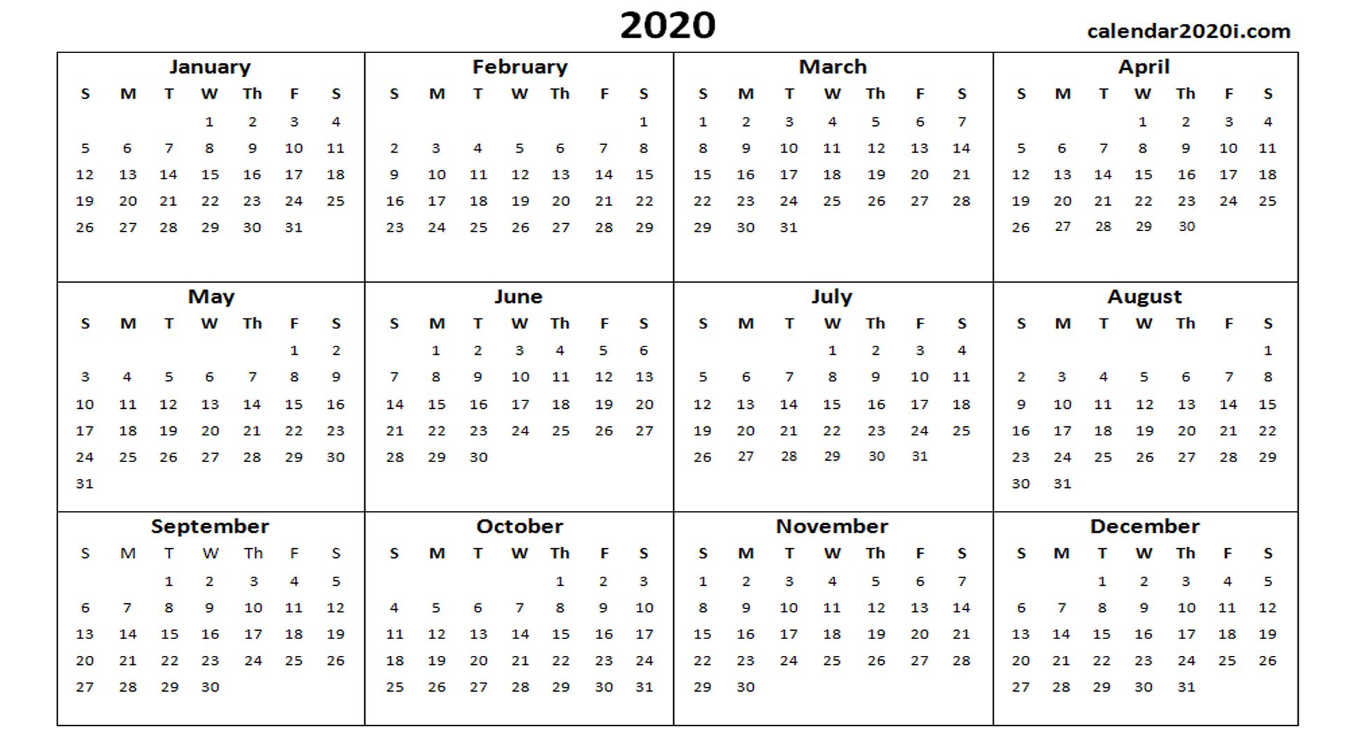 Microsoft Templates Calendar 2020 - Togo.wpart.co
