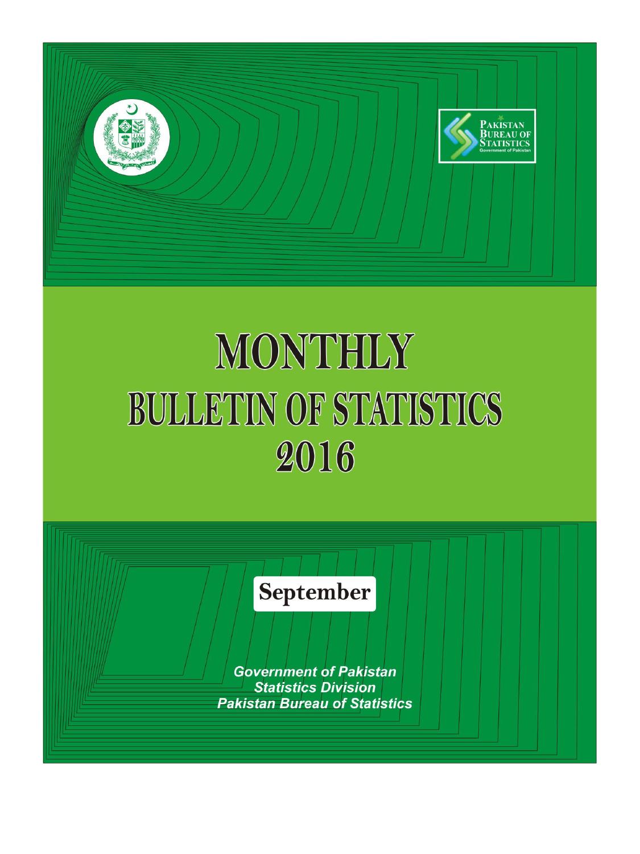 Monthly Bulletin Of Statistics, September, 2016 | Manualzz