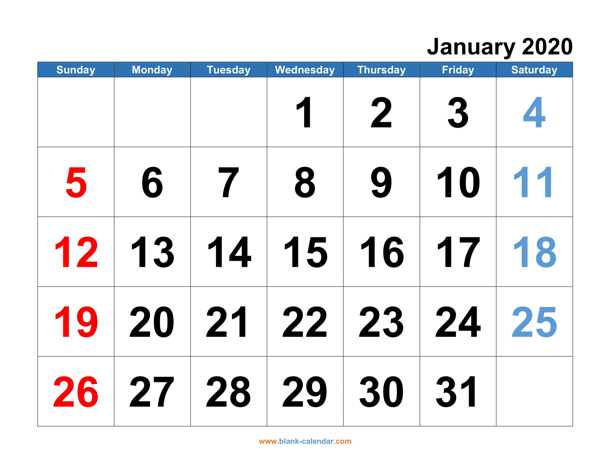 Monthly Calendar 2020 | Free Download, Editable And Printable