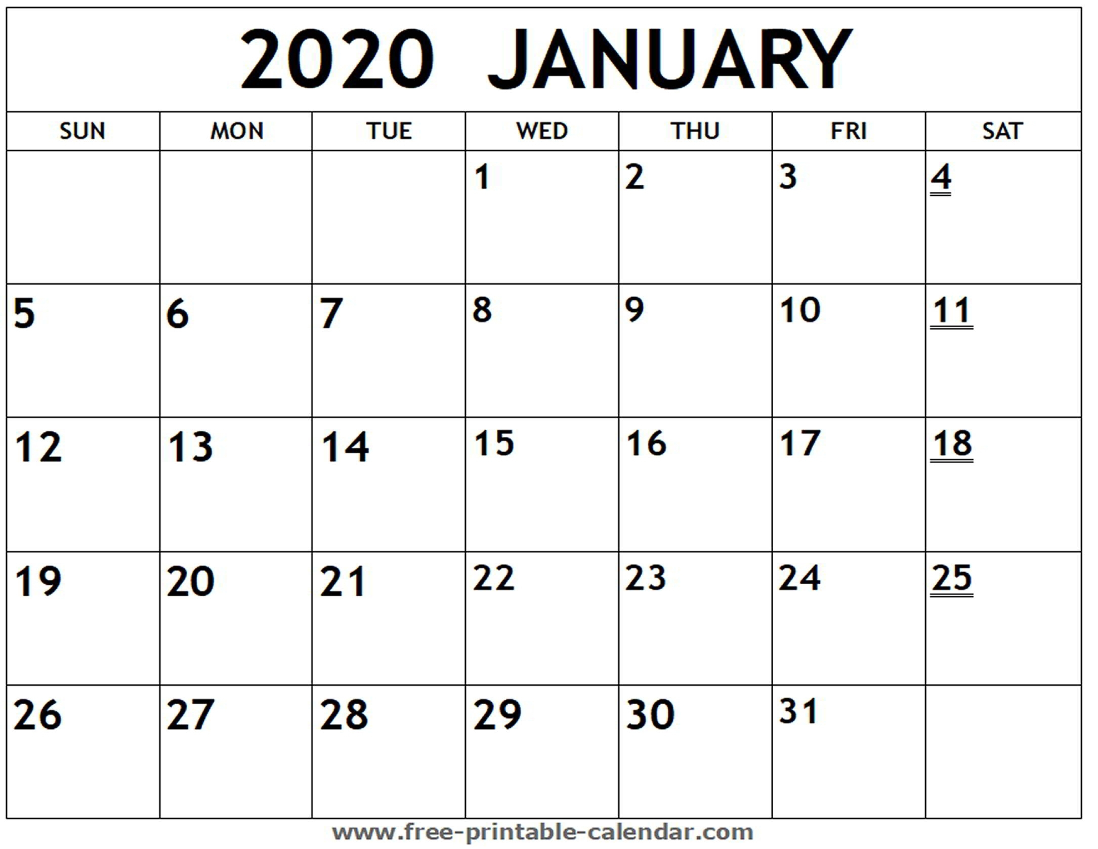 Monthly Calendar Printable 2020 Monday Start | Monthly