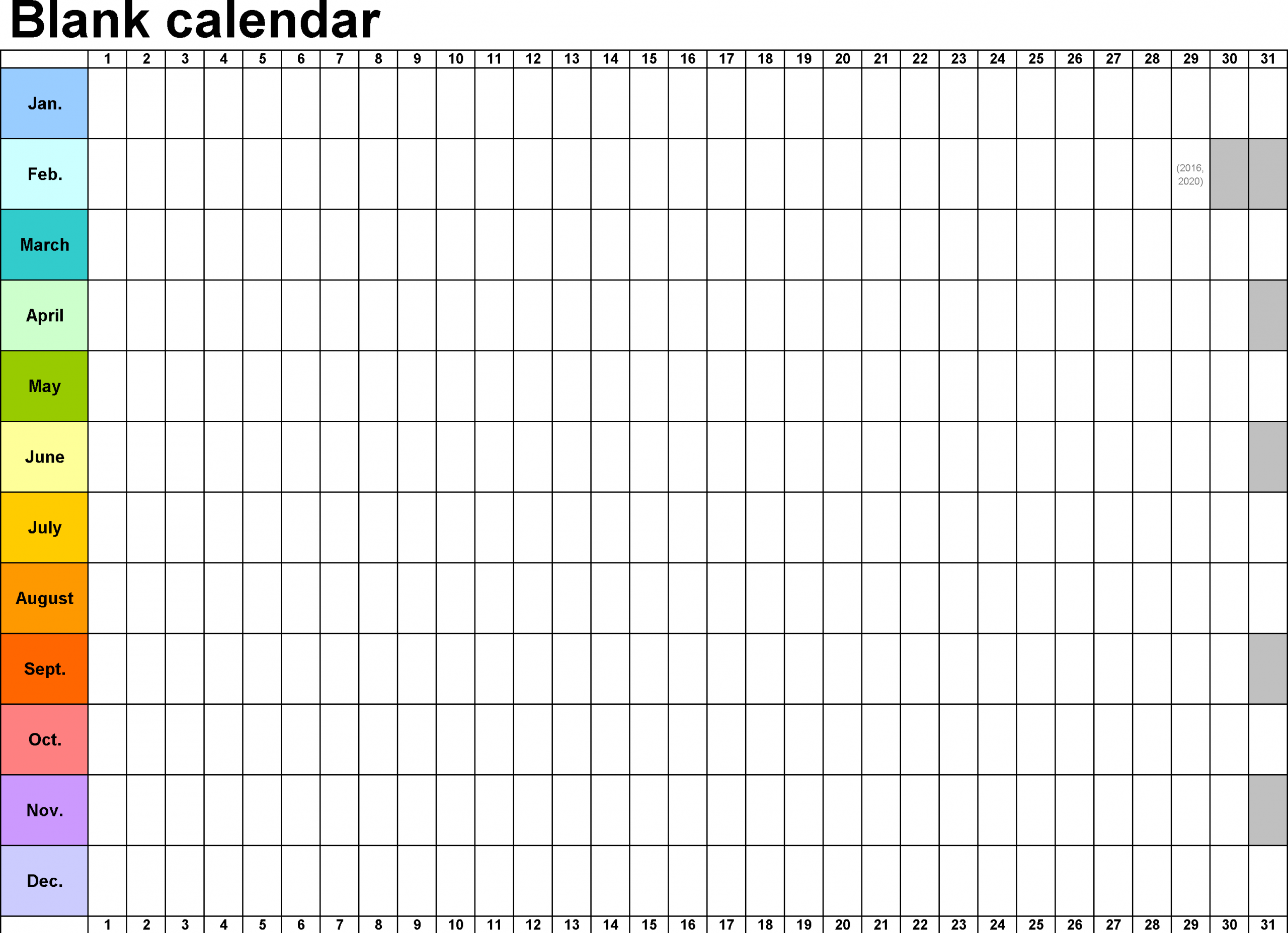 Monthly Calendar Template Format Hd | Monthly Calendar