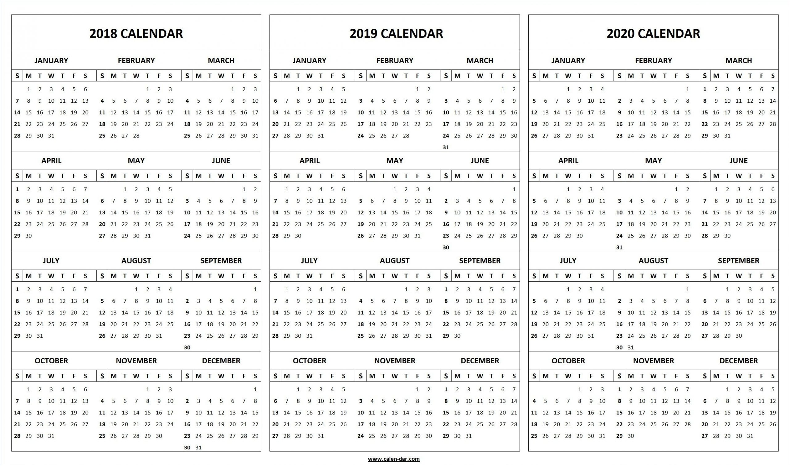 Monthly Printable Calendars 2020 Half Page - Calendar