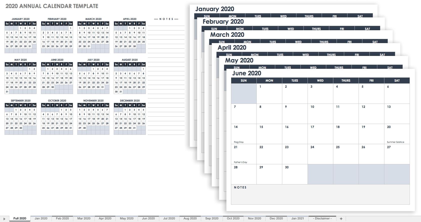 Monthly Printable Calendars 2020 Half Page - Calendar