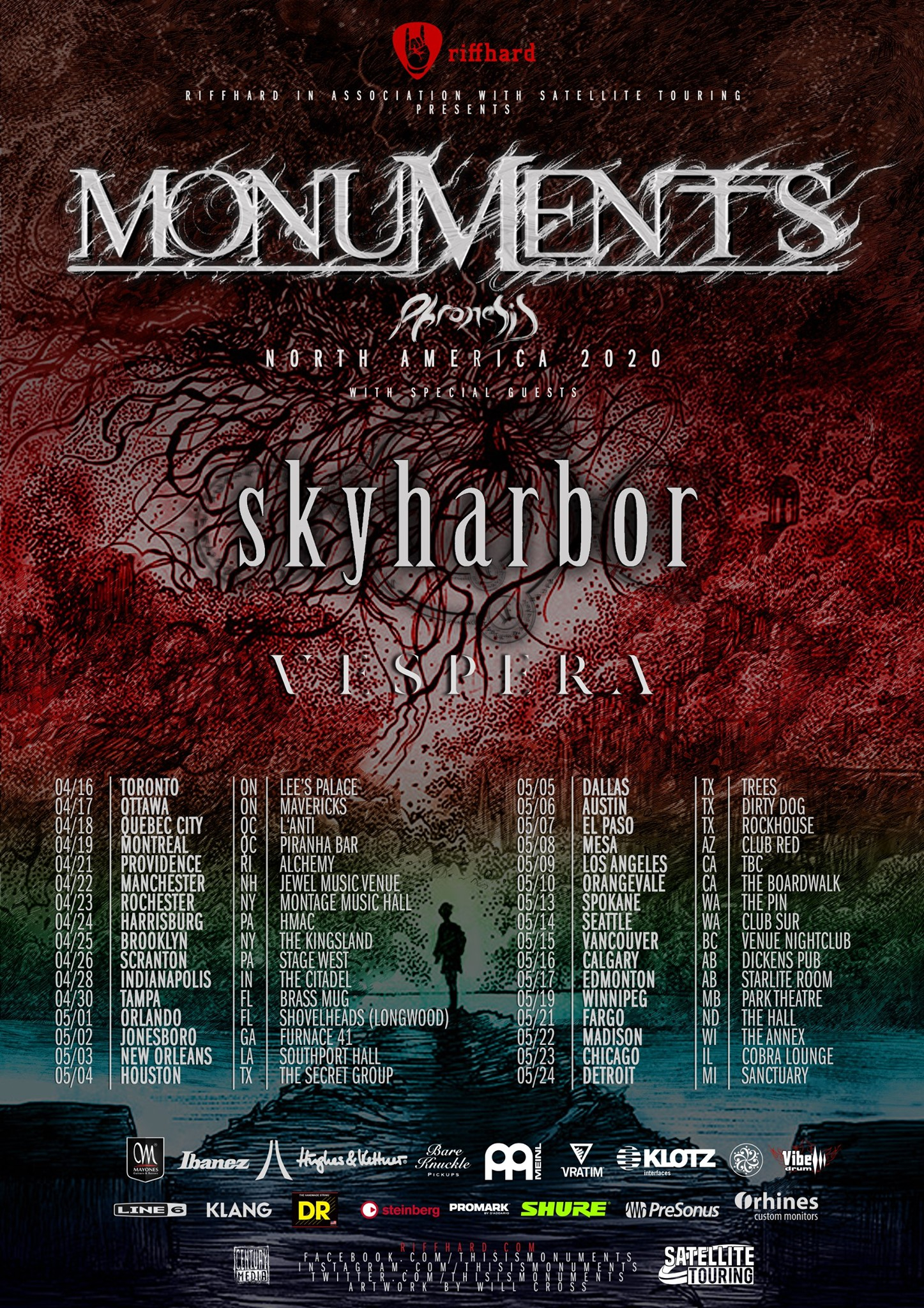Monuments - Tour 2020 - 22/04/2020 - Manchester - New