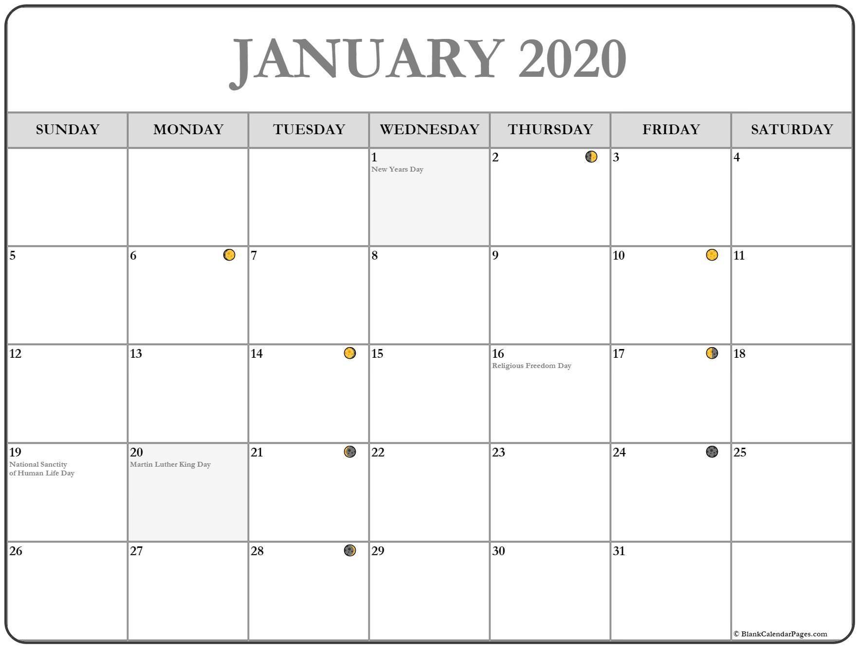 New Full Moon Phases For January 2020 Lunar Calendar