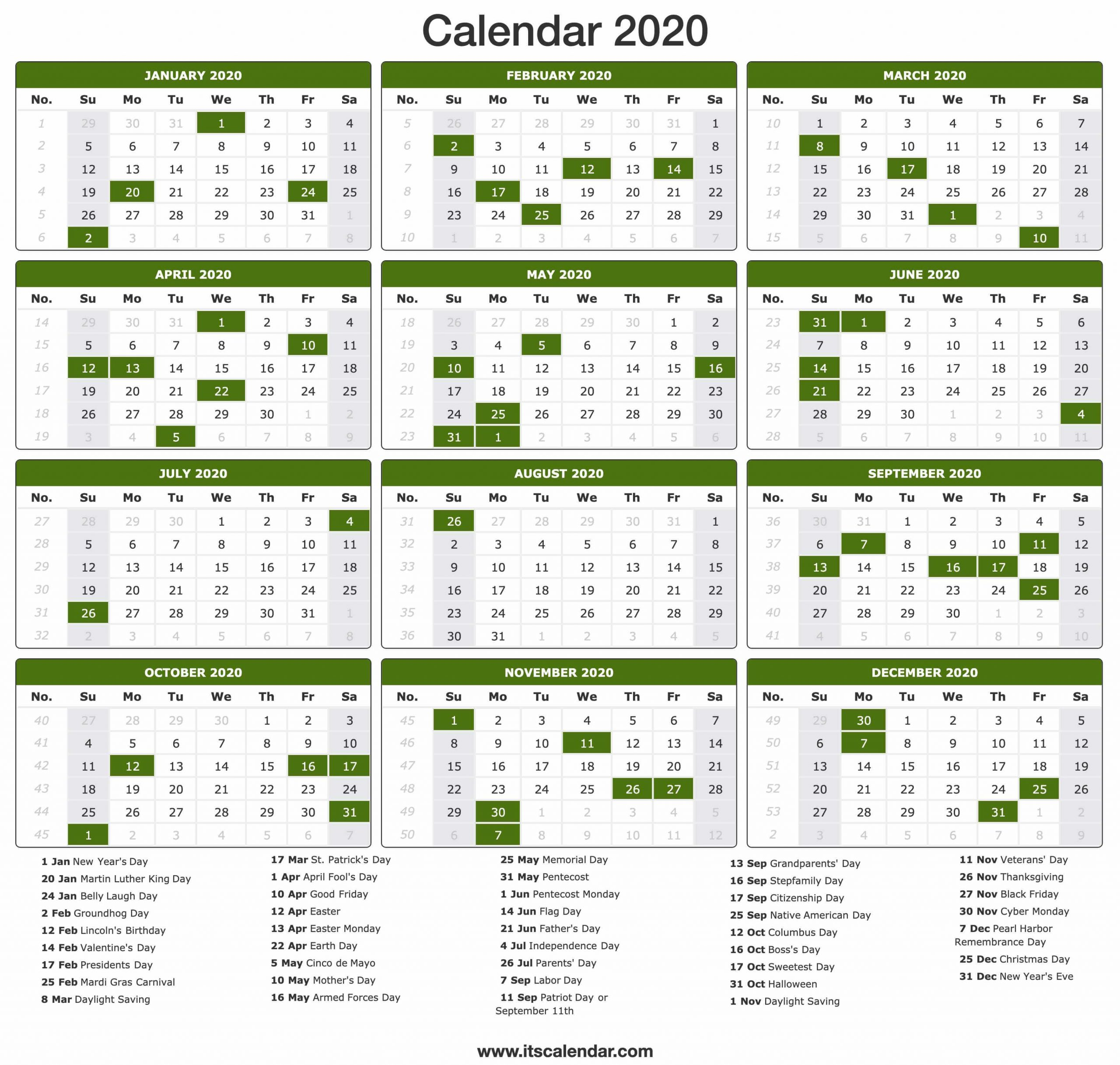 November 2020 Calendar Us Holidays - Togo.wpart.co