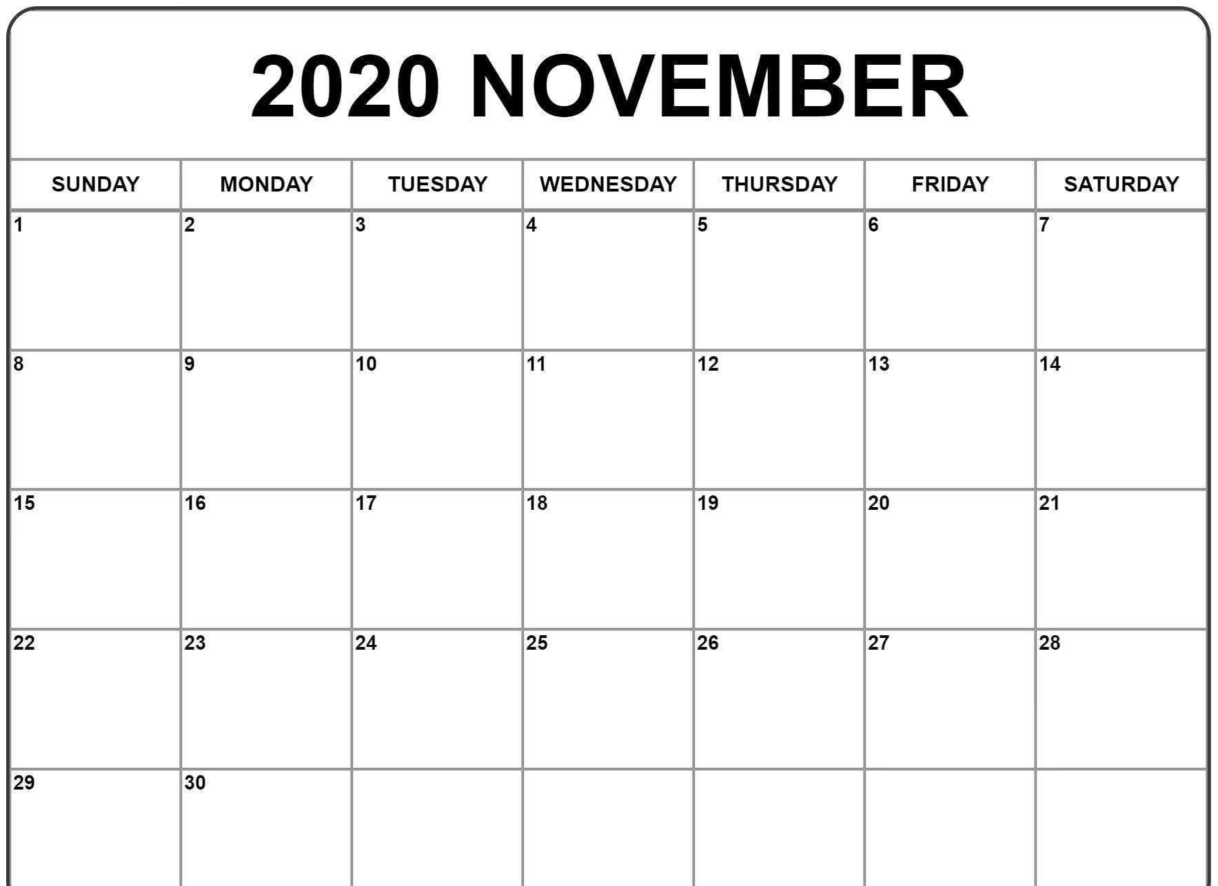 November 2020 Calendar Wallpapers - Top Free November 2020