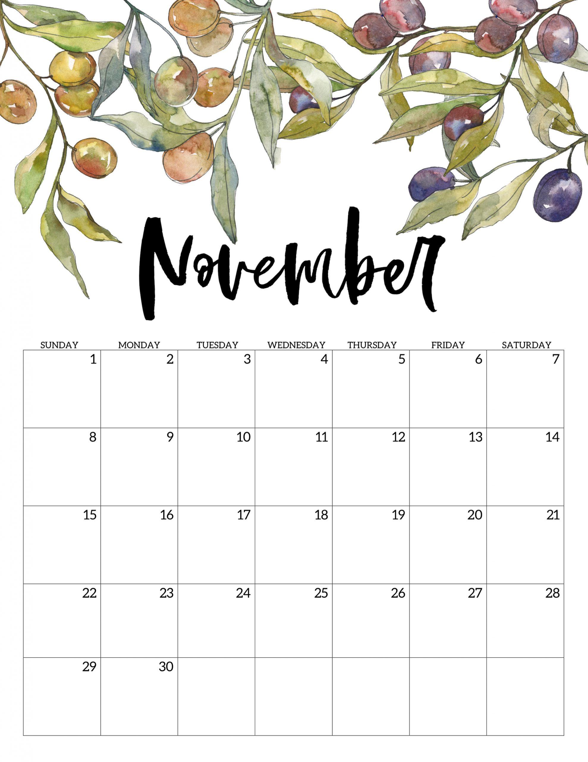 November 2020 Calendars To Print - Togo.wpart.co