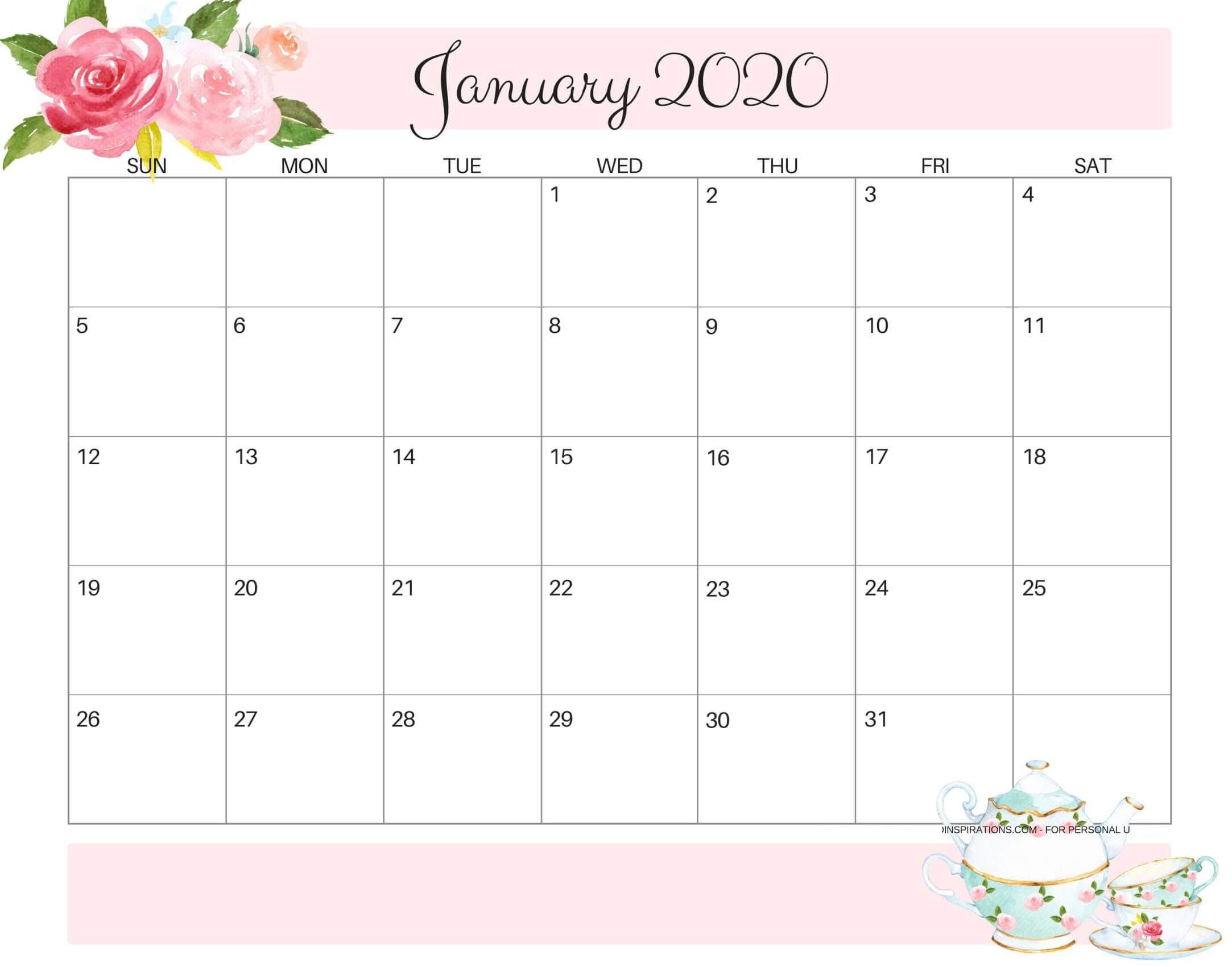 Online Free Printable January 2020 Calendar - 2019 Calendars