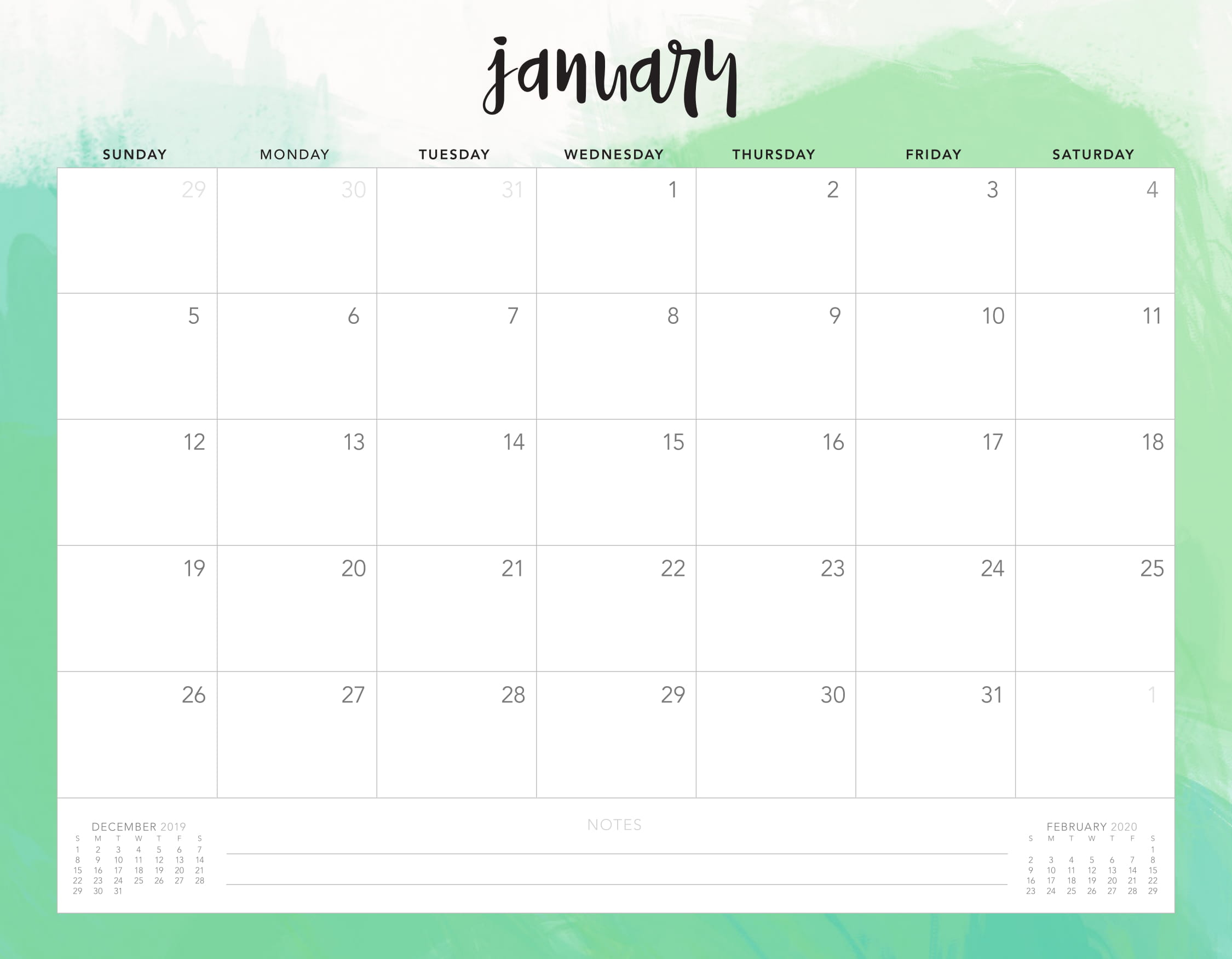 Online January 2020 Calendar Uk Holidays - 2019 Calendars