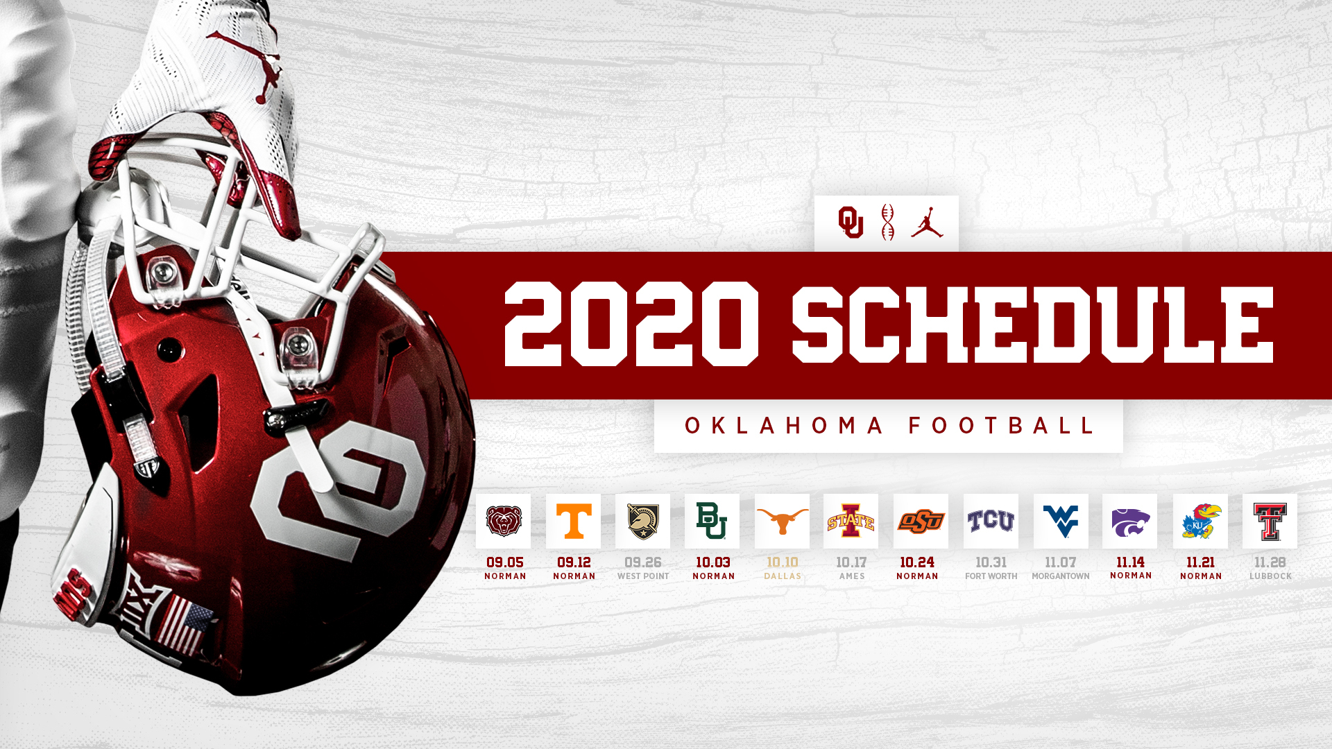 Ou's 2020 Football Schedule Announced - University Of Oklahoma