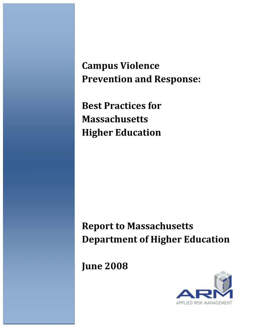 Pdf) Campus Violence Prevention And Response