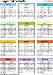 Perpetual Calendar Chart - Togo.wpart.co